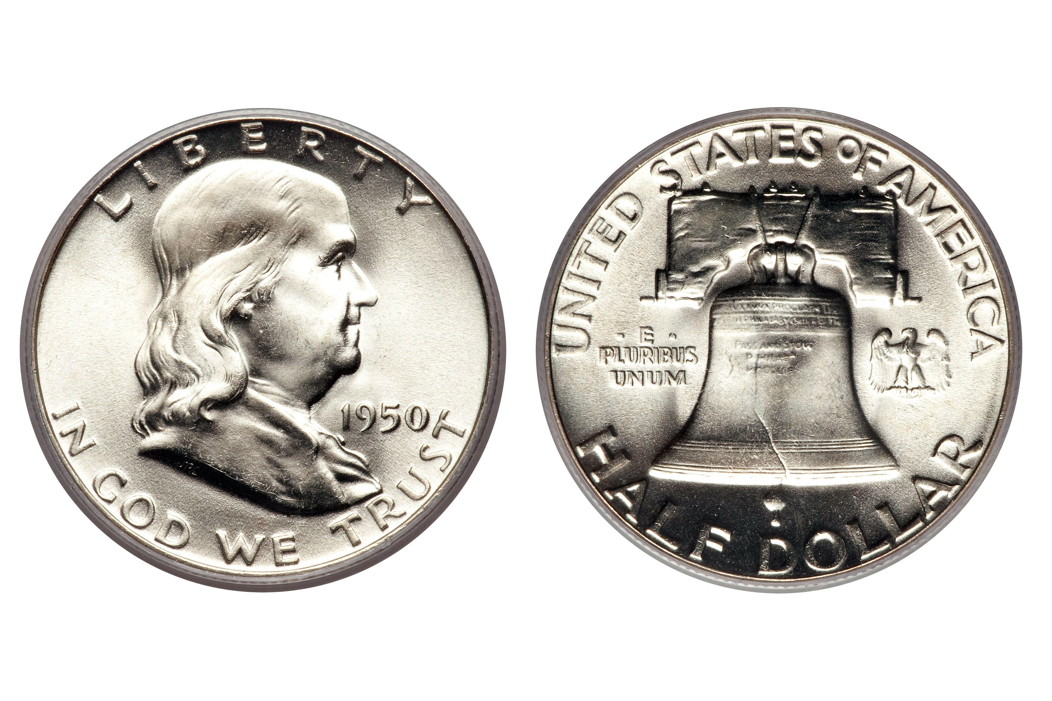 How much is a 1963 franklin silver half dollar worth