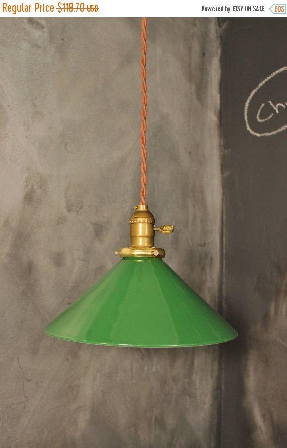 Vintage Speakeasy Pendant Light with Steel Cone Shade - Industrial