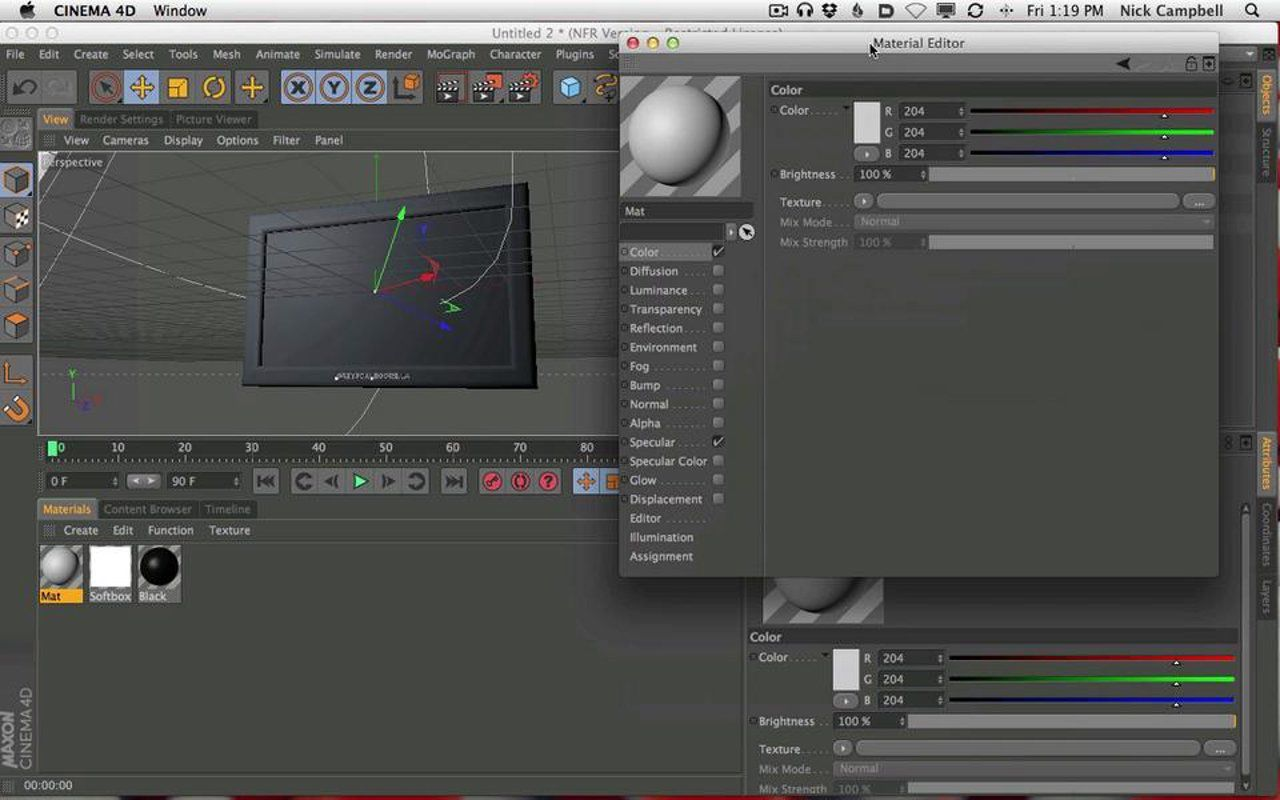 Cinema 4D to After Effects: Plasma TV Tutorial on Vimeo