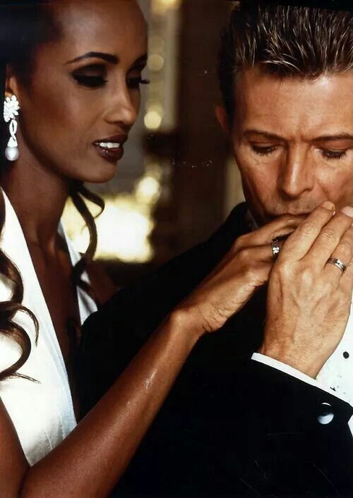 David Bowie & Iman's wedding day.