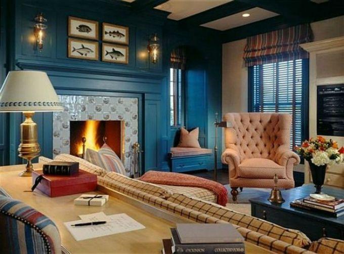 Wohnzimmer Trends ~ Wohnzimmer mit blaue töne u neue trends