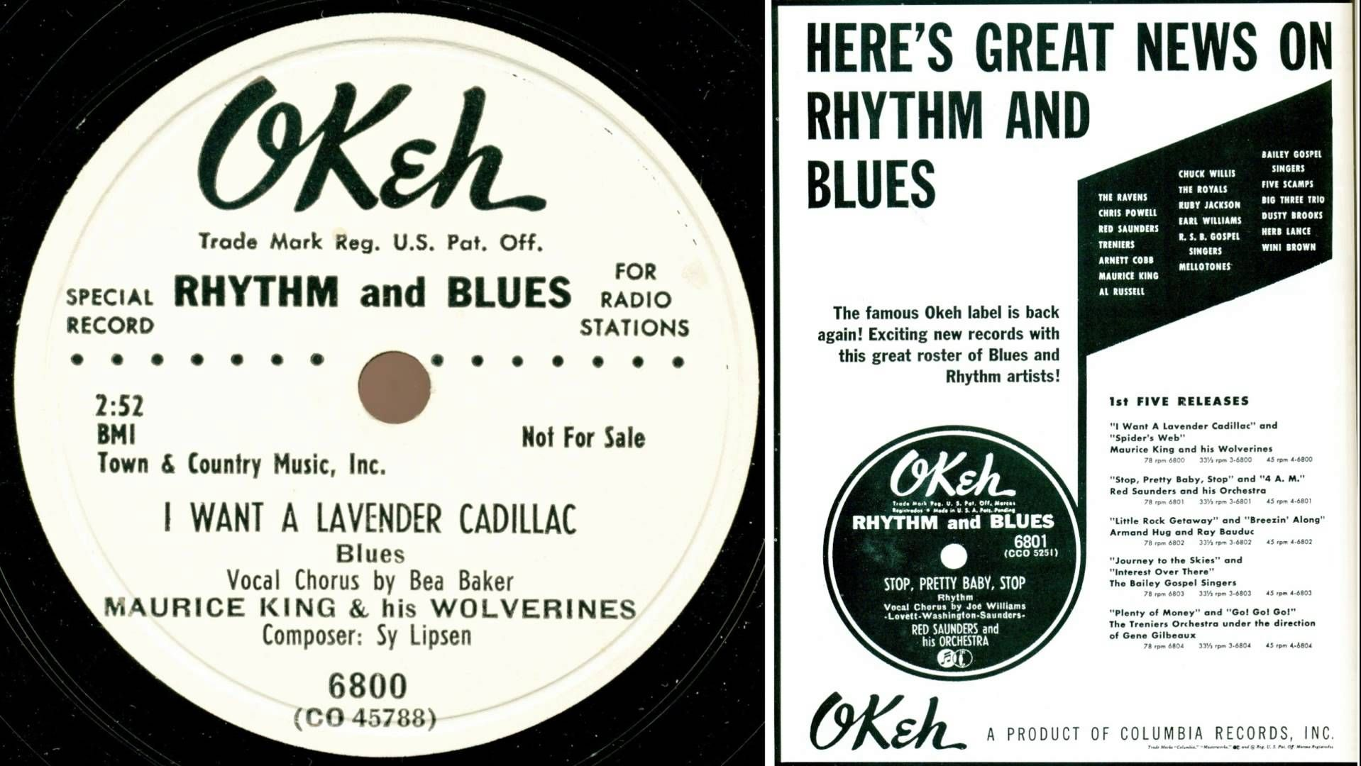 Maurice King & Bea (La Vern) Baker - I Want A Lavender Cadillac