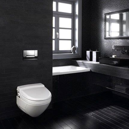 Best 25 une salle de bain ideas on pinterest for Deco salle de bain carrelage noir