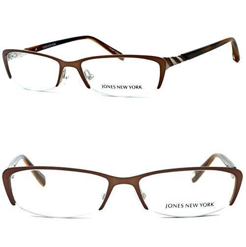 a7b171aef709 Jones New York Womens Lightweight   Comfortable Designer Reading Glasses  J469 in Brown 1.75
