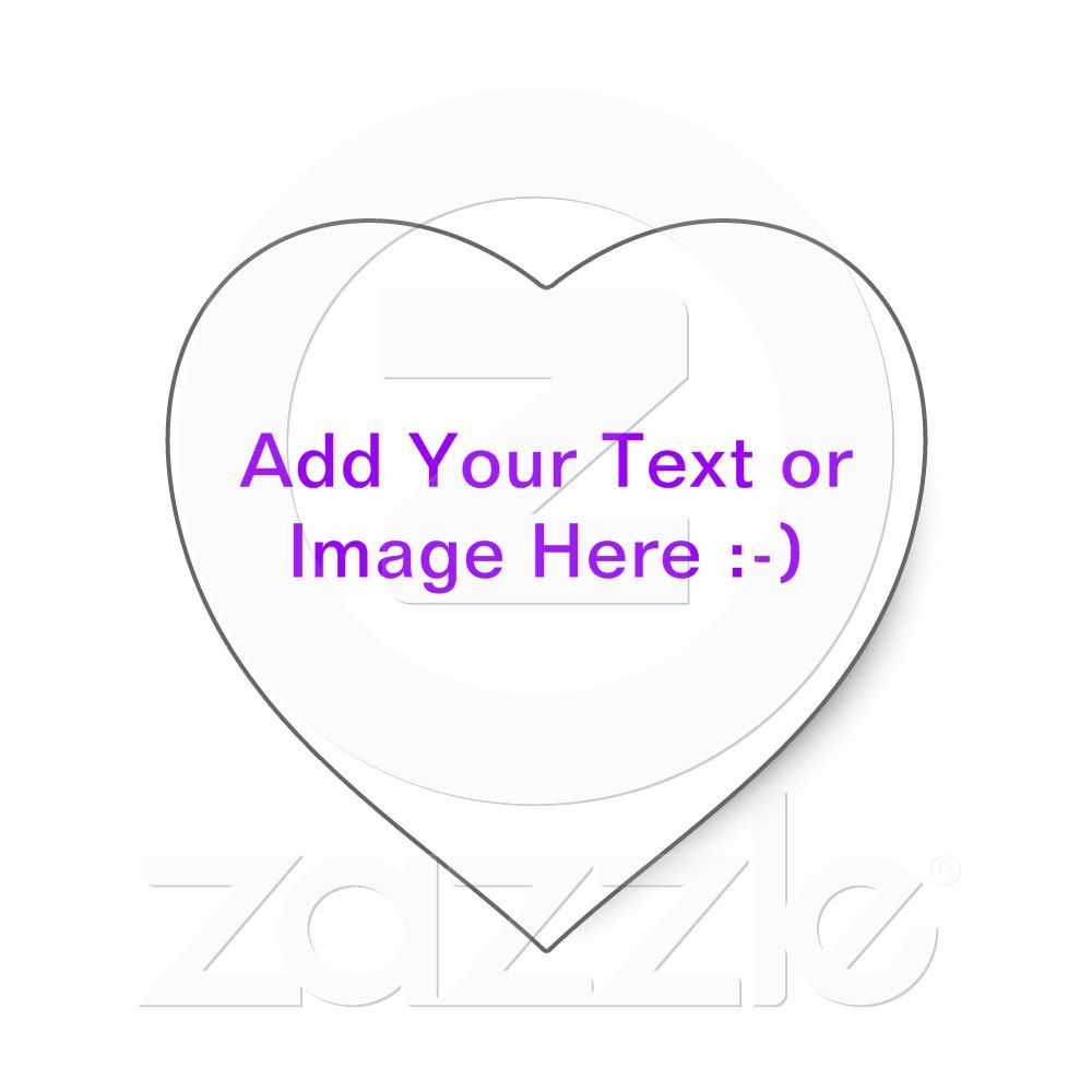 Create Your Own Personalized Heart Shaped Stickers With
