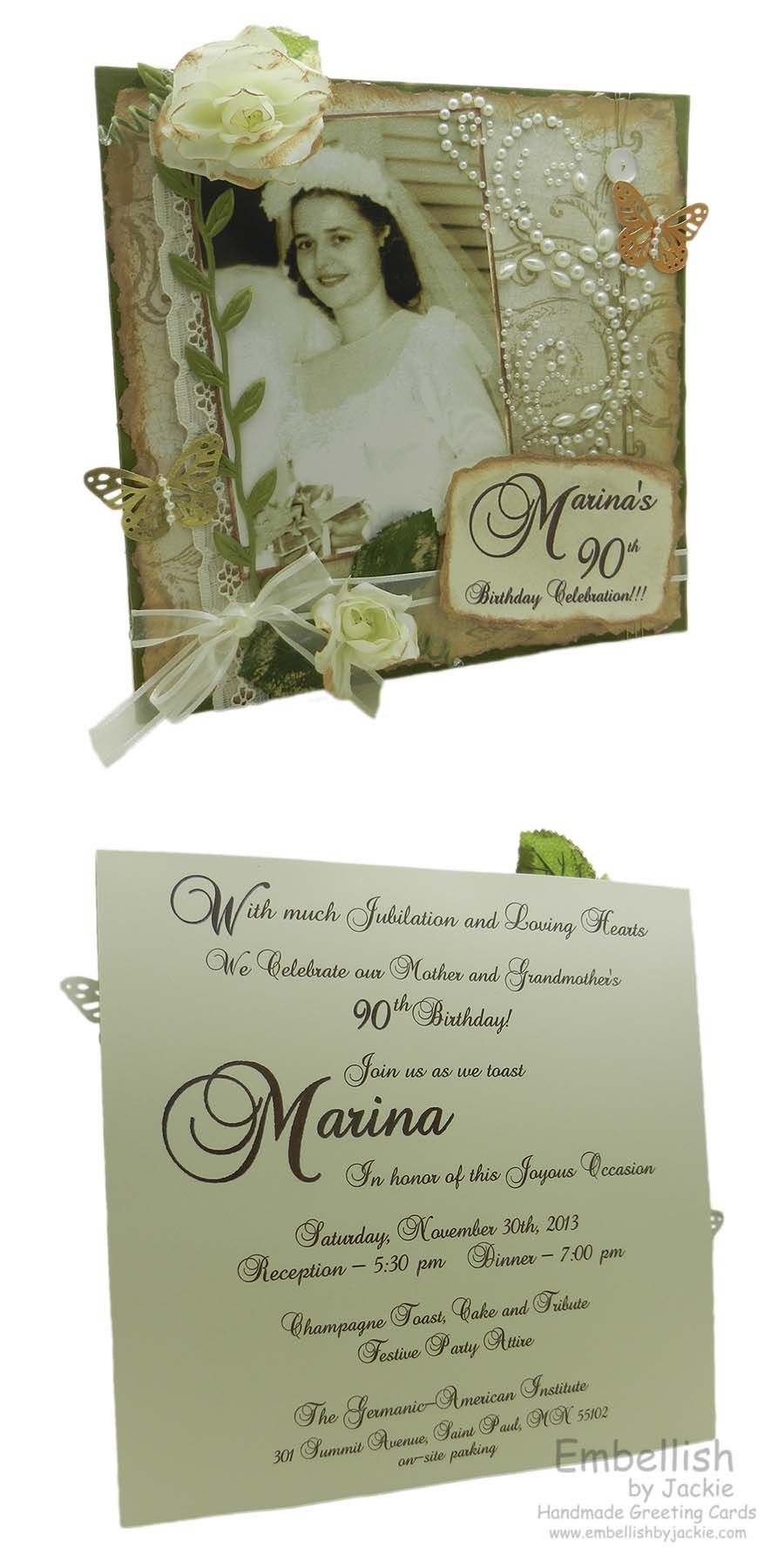Custom 90th Birthday Invitation