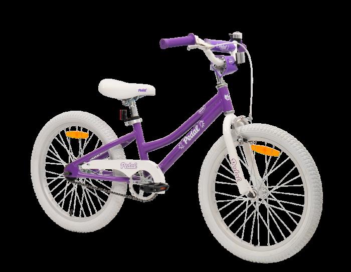 Pedal Bam Girls Bike 20 Inch Purple White Kids Bikes Bikes