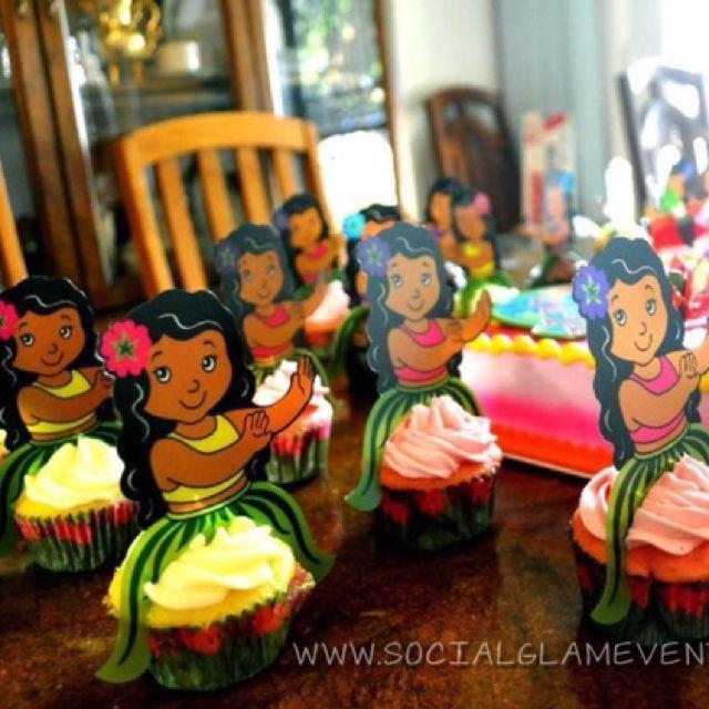 Luau Cupcakes Kid Parties Luau Cupcakes Luau Birthday