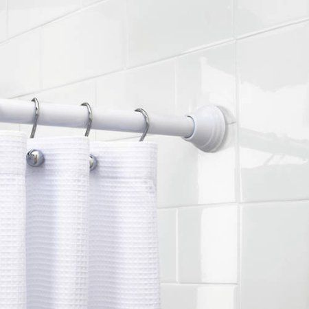 Better Homes Gardens 72 Inch Stepped Shower Curtain Tension Rod 1 Each White Shower Rod Shower Curtain Rods Bathroom Styling
