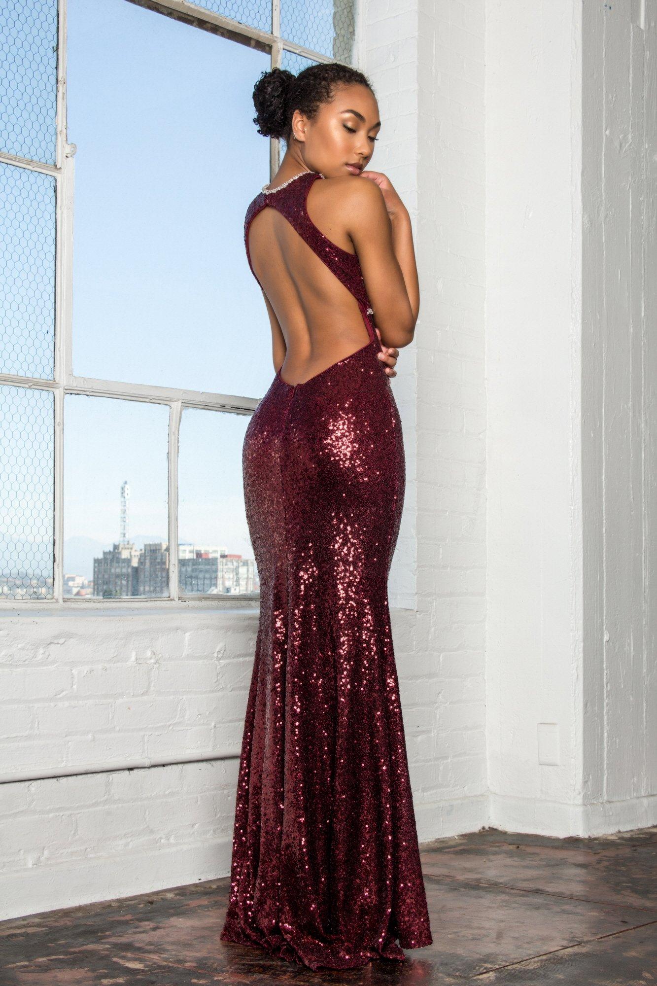 Sexy sequin burgundy evening gown gls sexi pinterest