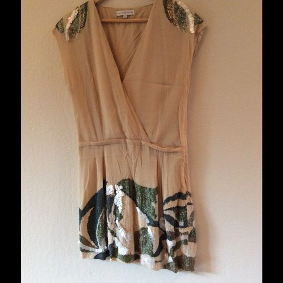 Christophe Sauvat Tan Beaded Dress Beautiful beaded dress. This is an amazing find. The attention to detail is great!! In excellent condition! Christophe Sauvat Dresses