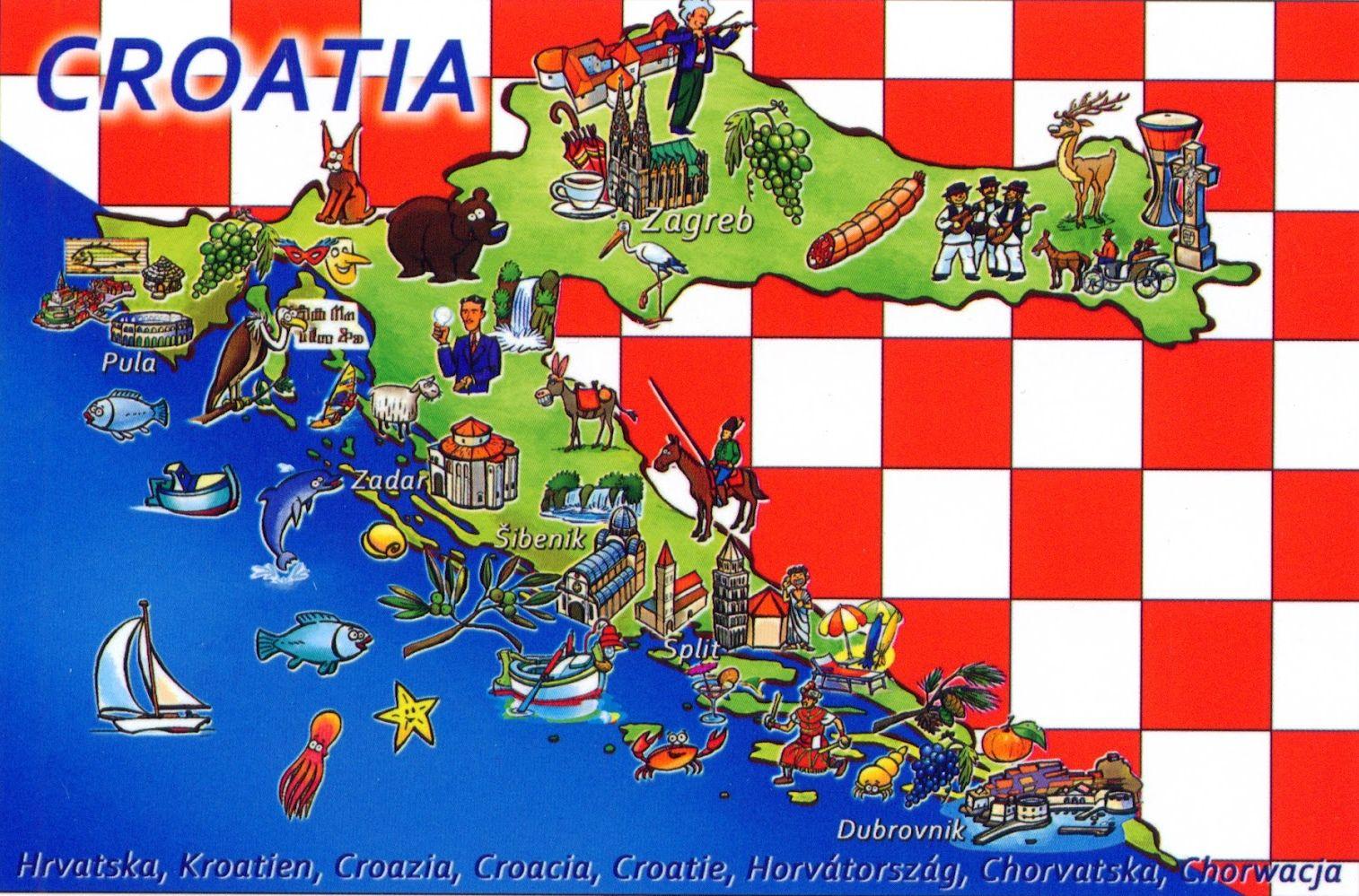 Croatia Tourist Map Croatia Tourist Croatia Map