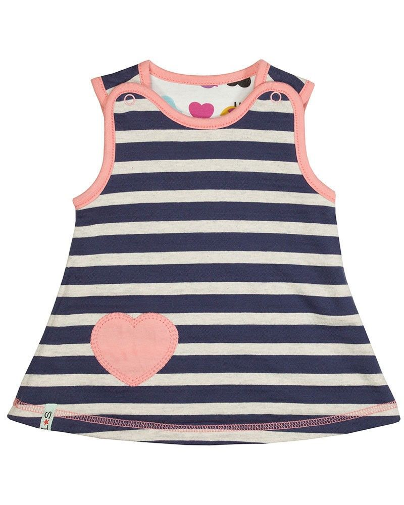 Baby Girls Reversible Baby Dress by Lily & Sid