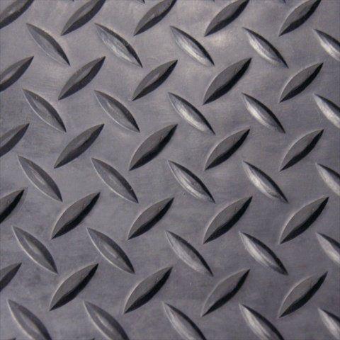 Rubber Cal Diamond Plate Rubber Flooring Rolls 1 8 Inch X 4 X 6 Feet Black Rolled Rubber Flooring Rubber Flooring Diamond Plate