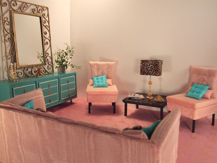 Doll Furnishings Glamour Living Room, Welcome Home Furniture