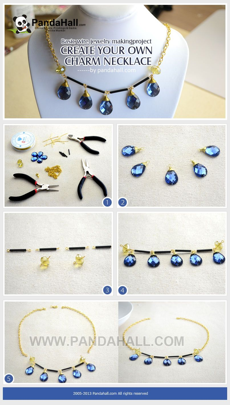 How to make basic wire jewelry? Create your own charm necklace out ...