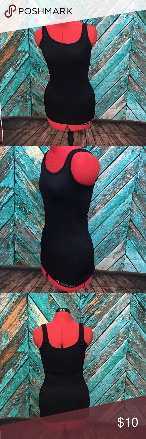 """Ellen Tracy Camisole EUC. Appx 22"""" shoulder to hem but it does stretch. Keeps you held in nicely. 😉. Color black. Size small. Ellen Tracy Intimates & Sleepwear"""