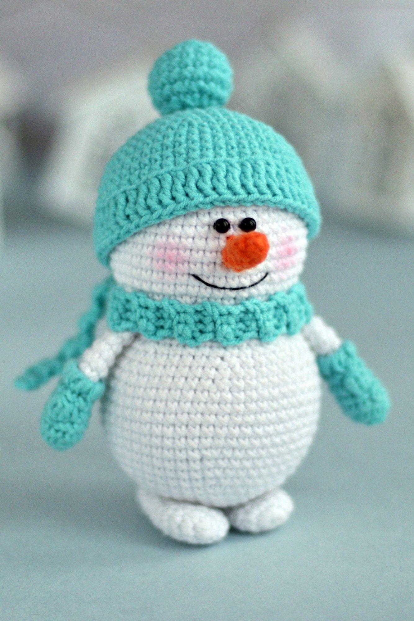 Snowman Crochet Pattern Christmas Toy New Year Decor Etsy Snowmen Patterns Crochet Snowman Crochet Patterns