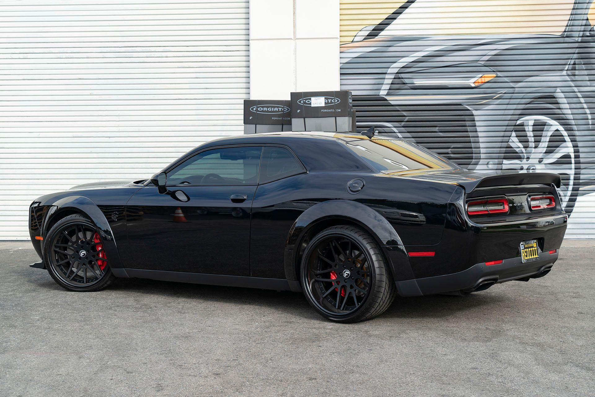 Dodge Challenger Srt Hellcat Redeye Black With 22inch Forgiato Maglia Aftermarket Wheels In 2020 Dodge Challenger Srt Hellcat Challenger Srt Hellcat Dodge Challenger
