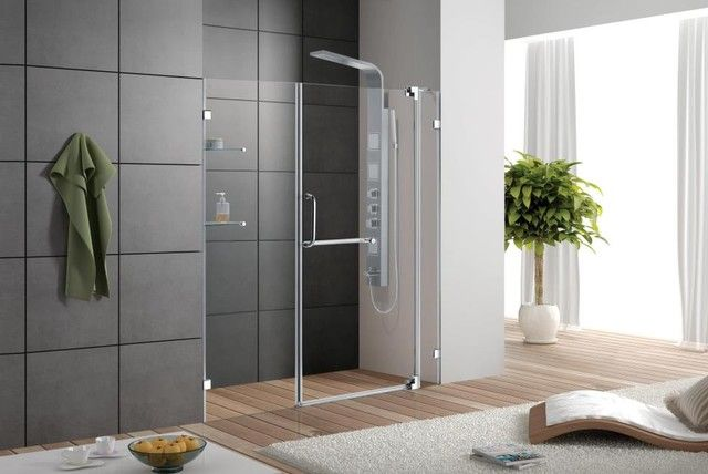 Vigo Vg6042chcl36 36 Inch Frameless Shower Door In Clear Glass And