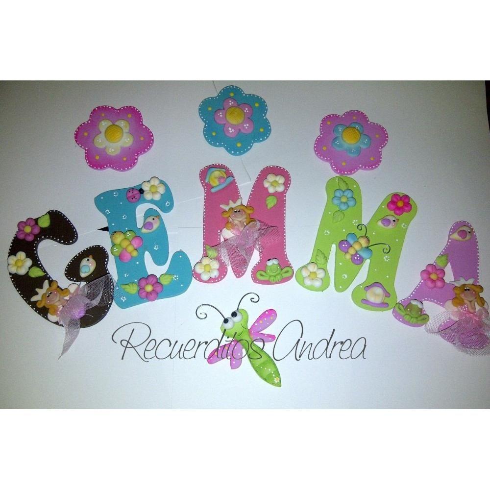 Letras Decoradas Para El Cuarto Del Bebe O Clinica,recuerdit BsF ...