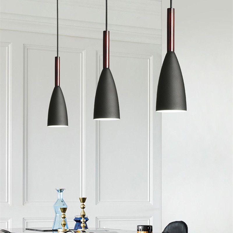 Black Pendant Lighting Bar Lamp Kitchen Modern Pendant ...