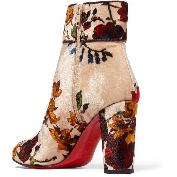 924567f1eb8 Christian Louboutin Moulamax 85 floral-print velvet ankle boots ...