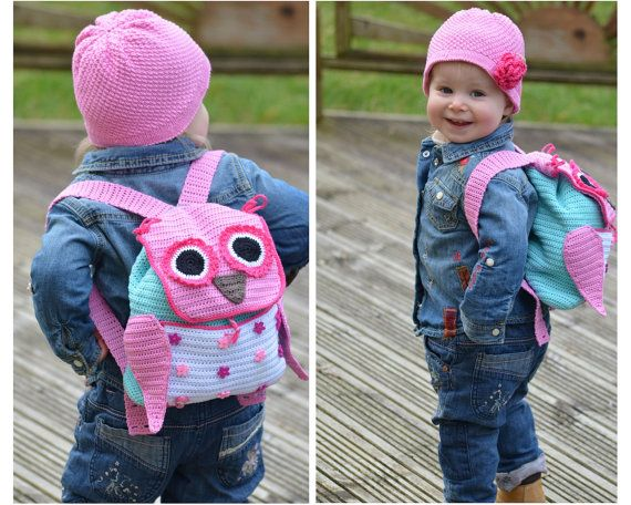 Crochet Pattern  Owl Adventure Backpack by ViTalinaCraft on Etsy