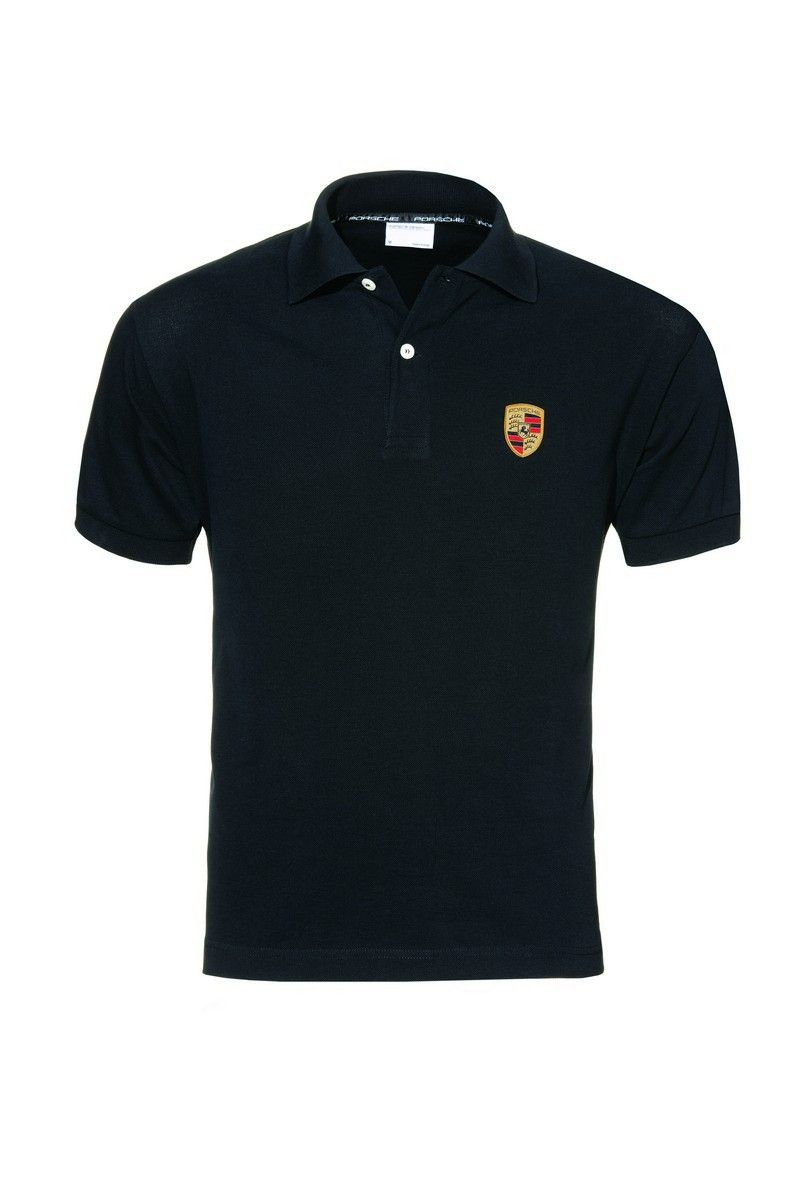 6afae1ac Black Porsche Crest polo shirt. Black Porsche Crest polo shirt Men's ...