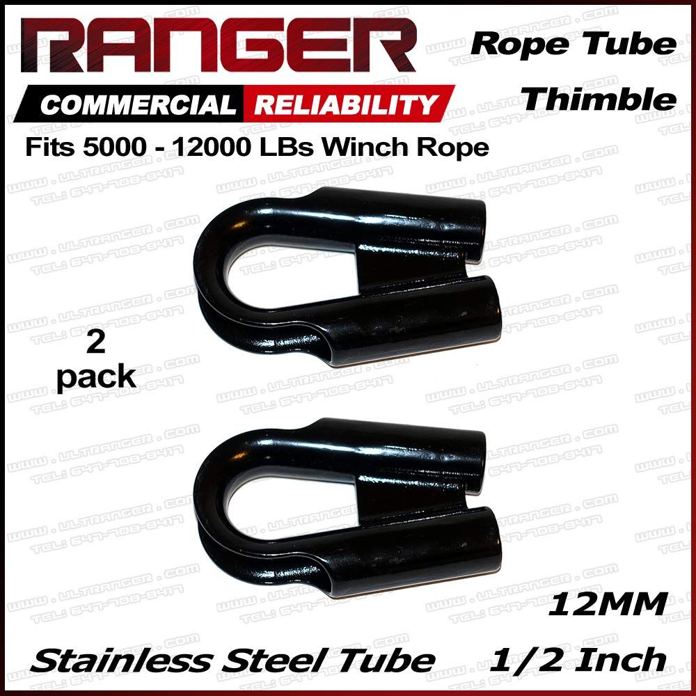 Ranger 12mm 1 2 Stainless Steel Rope Tube Thimble With Gusset For 3 8 Or 1 2 Wire Or Synthetic Winch Rope By Ultran Winch Rope Synthetic Winch Rope Thimbles