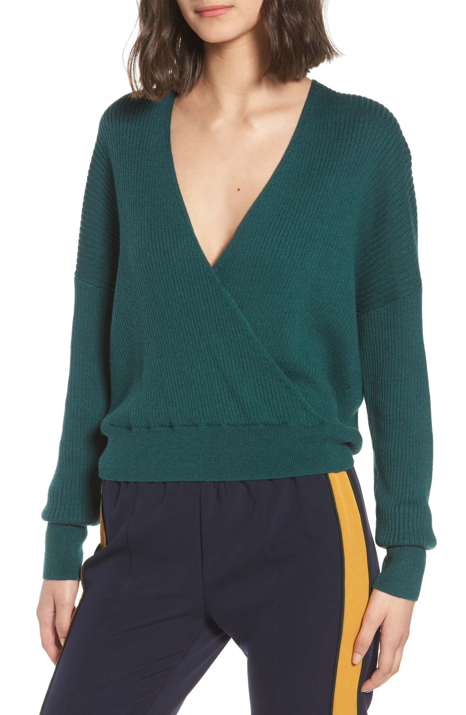 c16dbc50a Rib Wrap Sweater