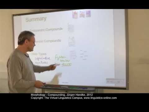 ▷ Morphology - Compounding - YouTube | Linguistics