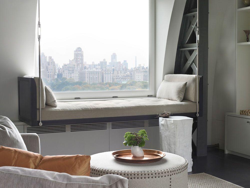 penthouse luxueux sur central park new york chambres pinterest banquette interieur et. Black Bedroom Furniture Sets. Home Design Ideas