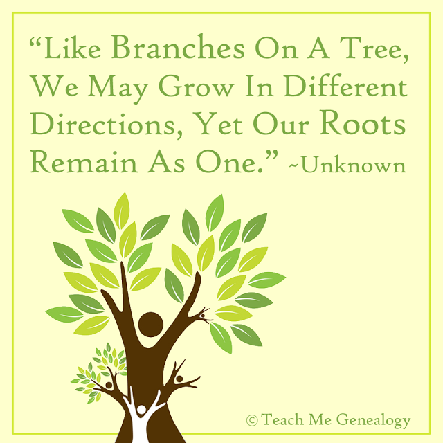 """Like Branches On A Tree, We May Grow In Different"