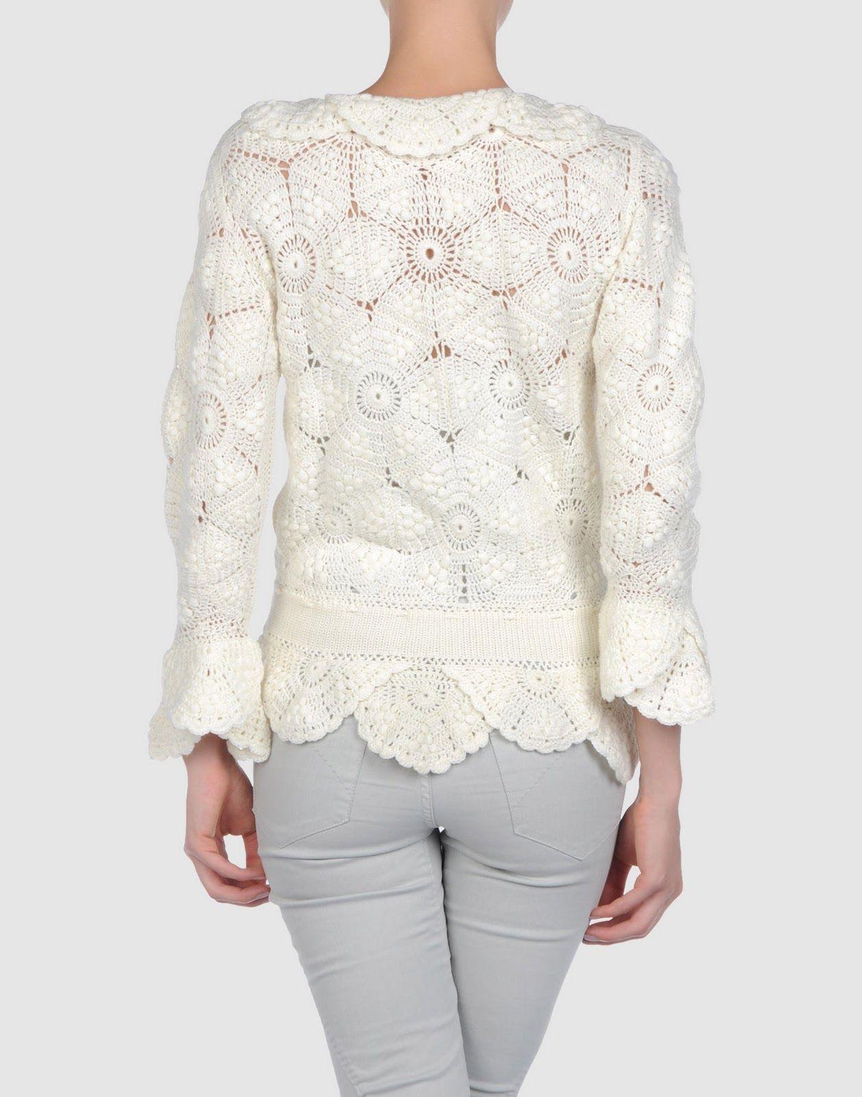 Outstanding Crochet: Dana Buf. Romantic Crochet Jacket.