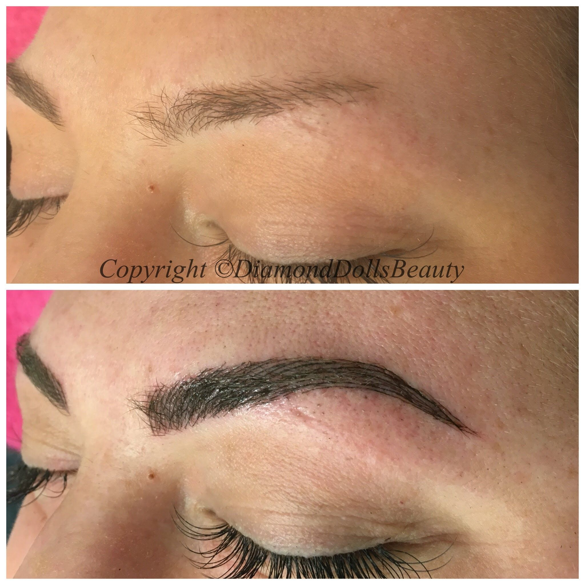 MICROBLADE EYEBROWS SEMI PERMANENT MAKEUP BY DDB Semi