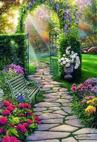The Mystical Garden Path Uploaded To Pinterest Beautiful Gardens
