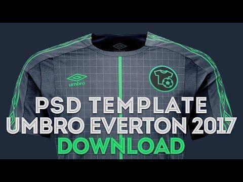 Download Template Umbro Everton Hd Photoshop Psd Camisetas