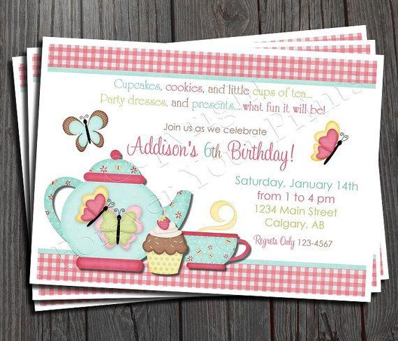 Free Printable Tea Party Invites