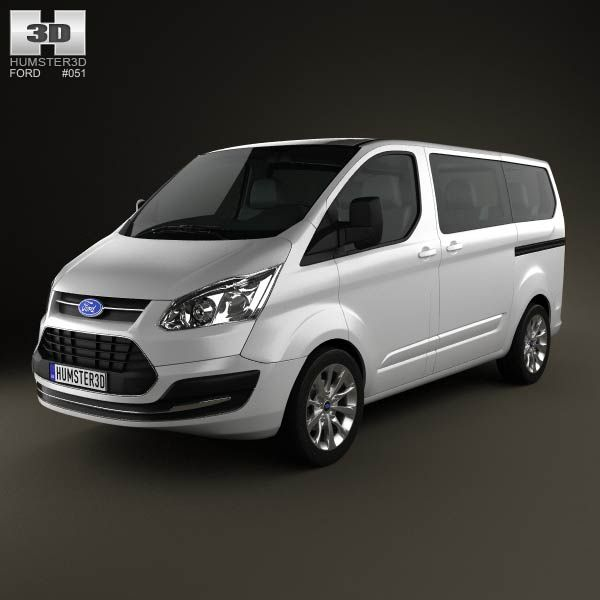 Ford Tourneo Custom SWB 2012 3d Model From Humster3d.com
