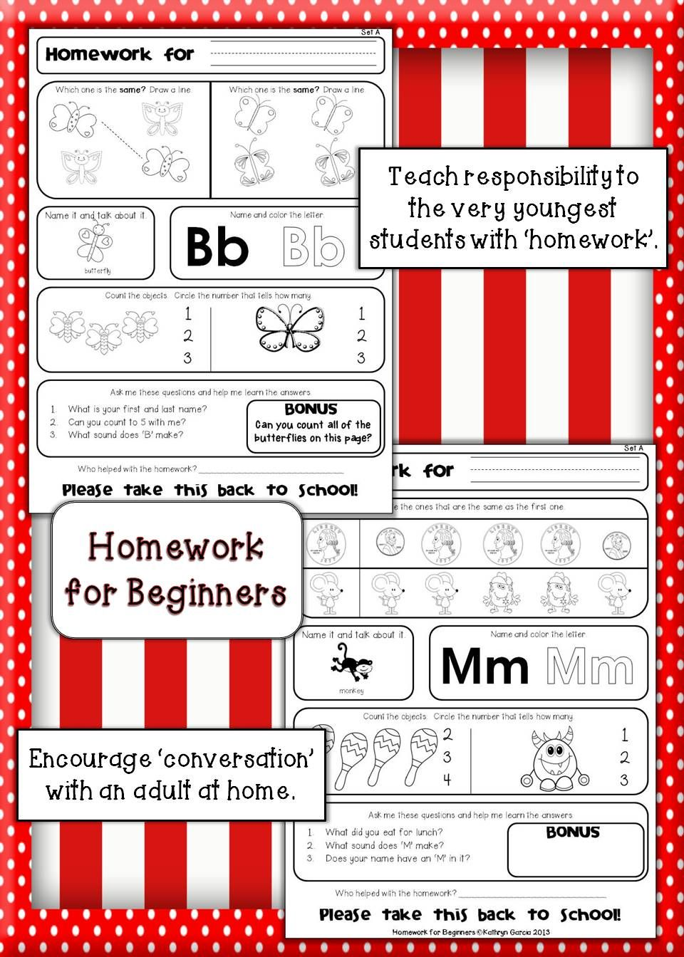 Homework For Beginners Set A Numbers Letters Vocabulary Daily Oral Language Teaching Teacher Help [ 1344 x 960 Pixel ]