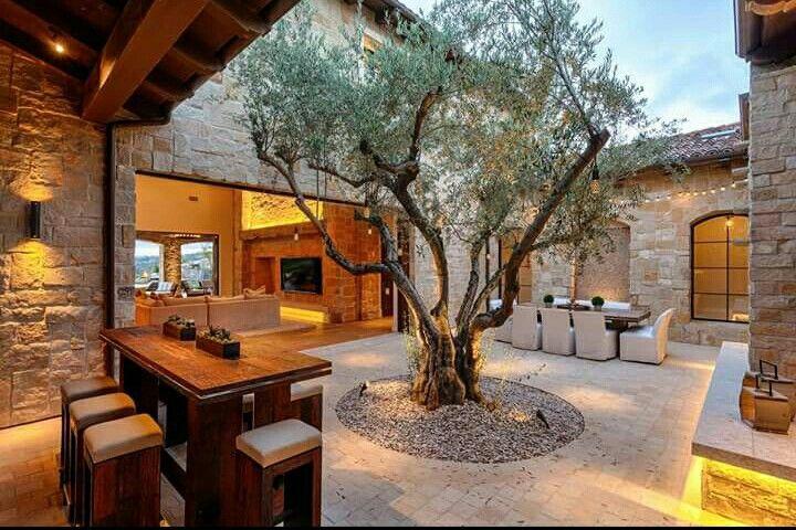 Patio mediterraneo da casa rustica pinterest casas terrazas y de campo - Patios de casas rusticas ...