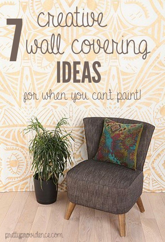 Temporary Wall Coverings 7 Great Ideas For When You Can T Paint Renters Decorating Covering Decor
