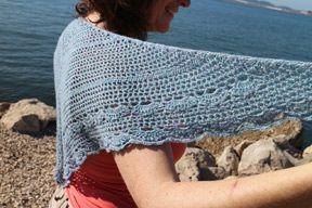 Allegro Lace Seaside Shawlette Crochet Shawlette Scarf Yarn Crochet