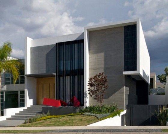 Casas de dos pisos y tres dormitorios fachadas de casas Viviendas modernas de dos plantas