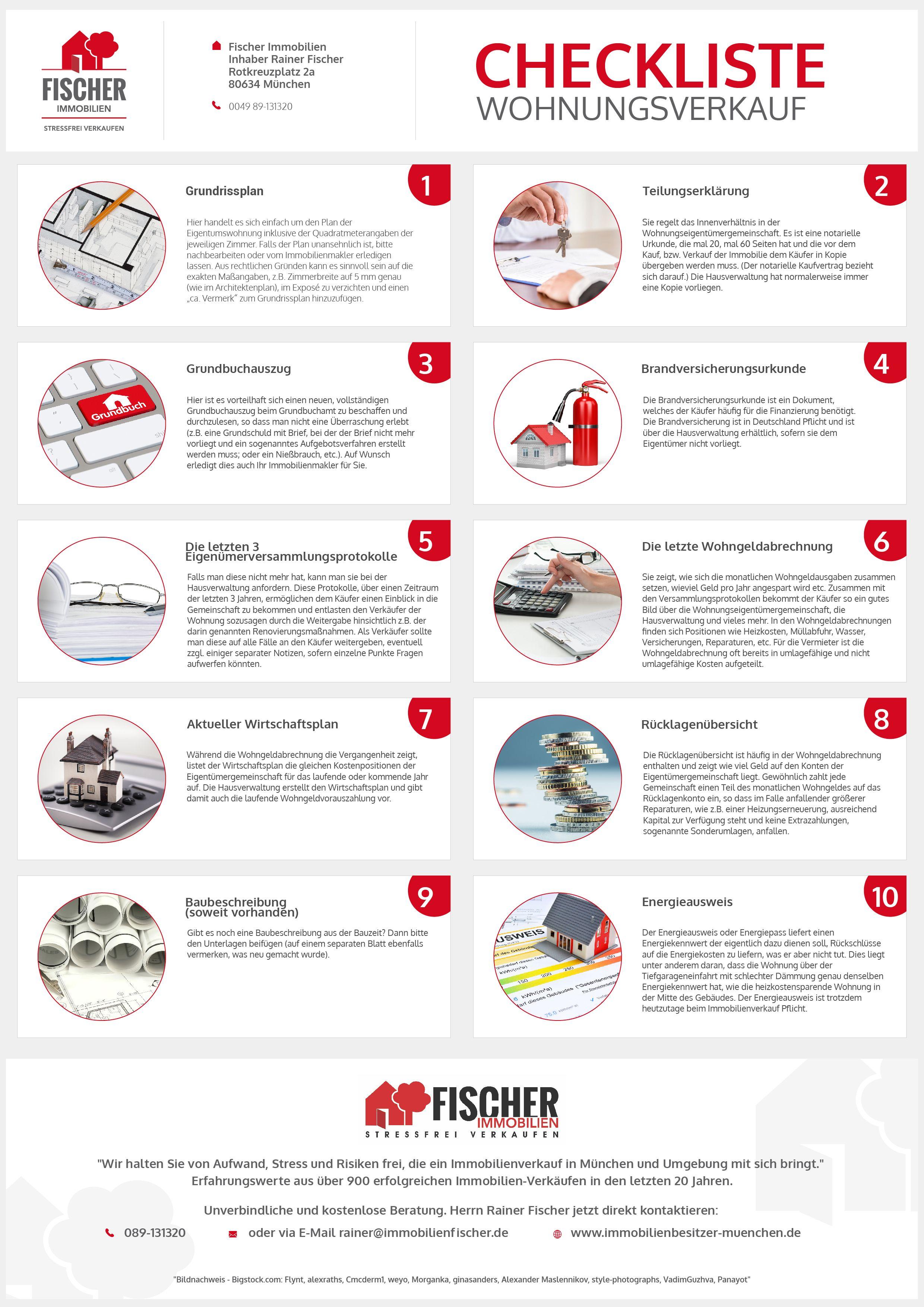 checkliste wohnungsverkauf alle wichtigen unterlagen in 2019 infografiken immobilien know. Black Bedroom Furniture Sets. Home Design Ideas