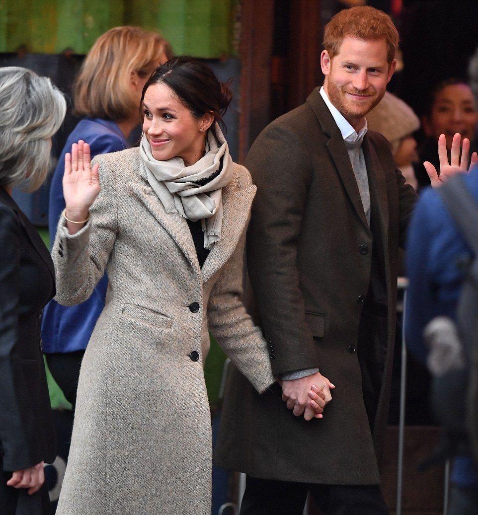 January 9, 2018 Prince Harry & Meghan Markle Arrive At