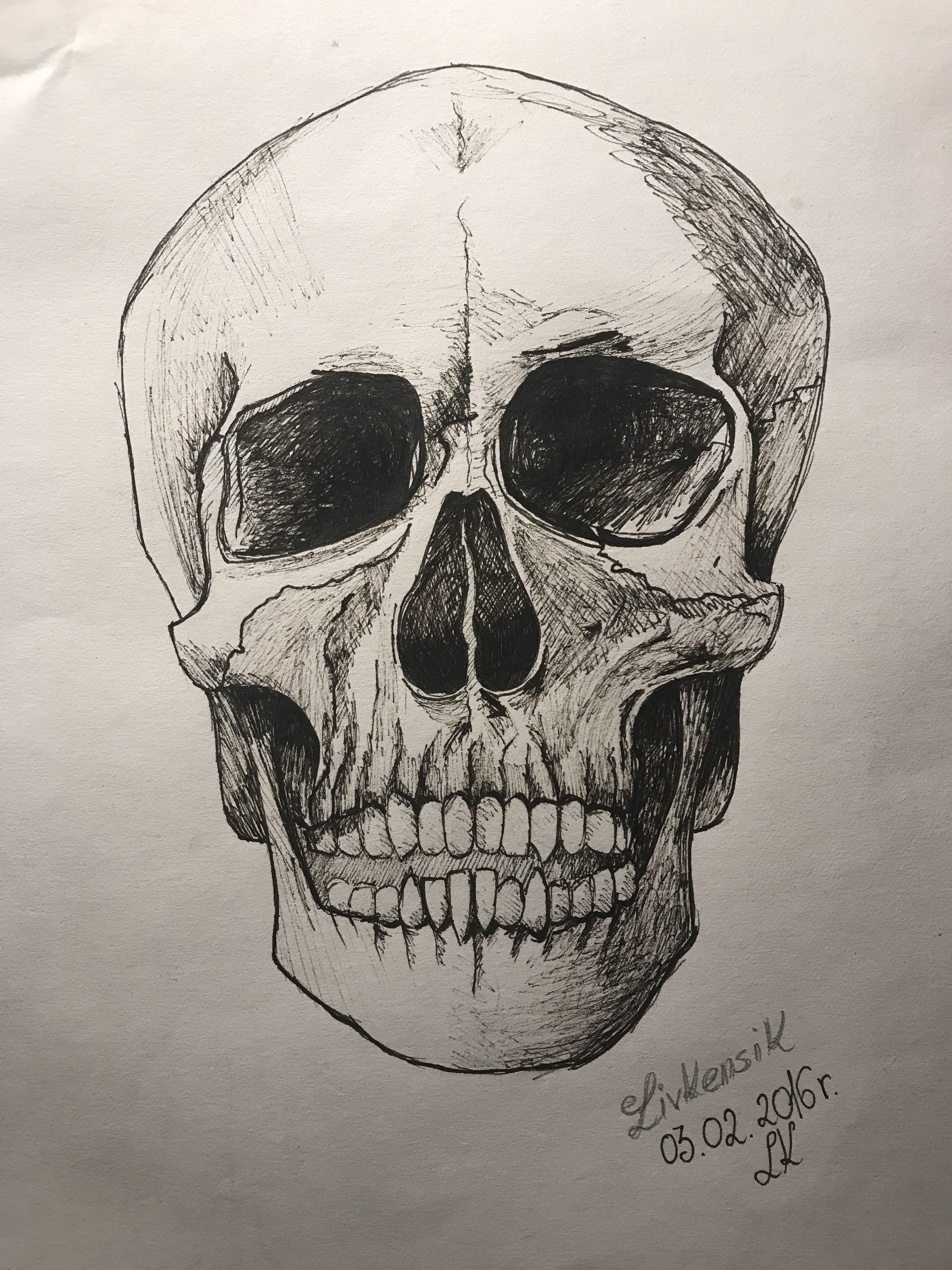 If you want good draw you must know anatomy! I love skulls ...