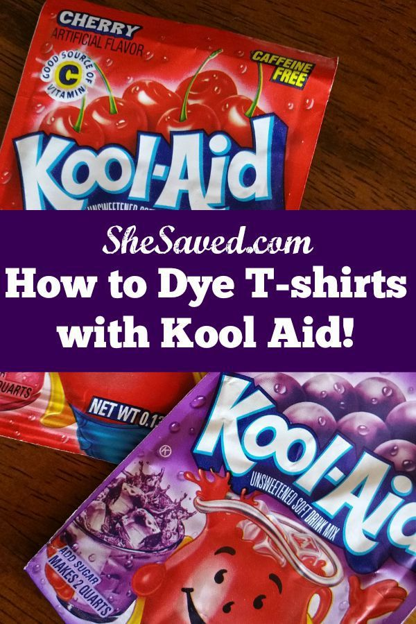 How To Dye T Shirts With Kool Aid Kool Aid And Craft
