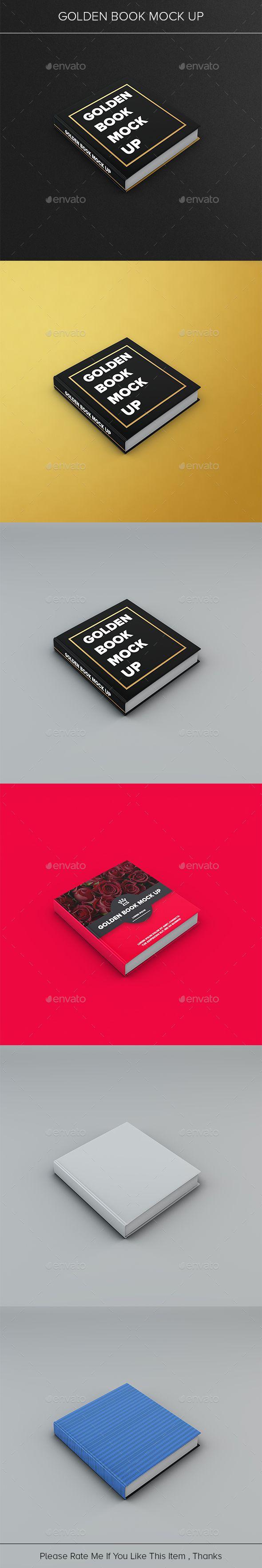 Golden Book Mock Up Print Mockup Mockup Graphic Design Templates